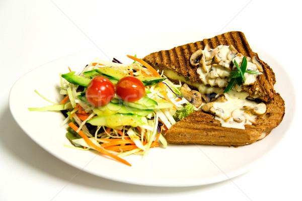 焼き サンドイッチ サラダ キノコ マヨネーズ グリル ストックフォト © stockyimages