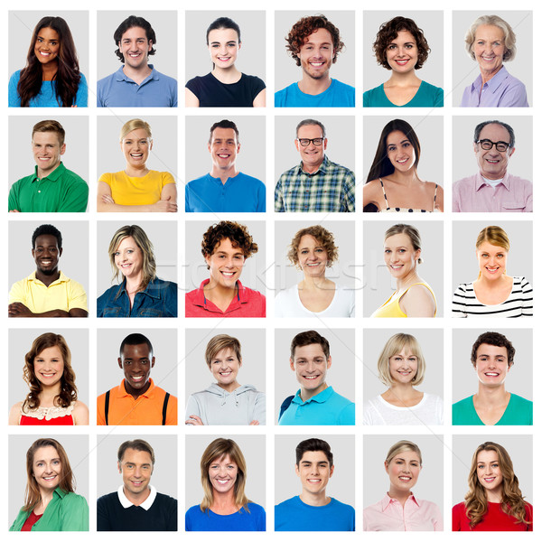 Composition of smiling people Stock photo © stockyimages