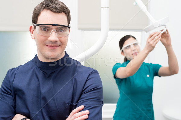 Stock photo: We are here to help you !