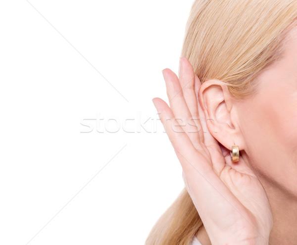 Secretly listen the gossip. Stock photo © stockyimages