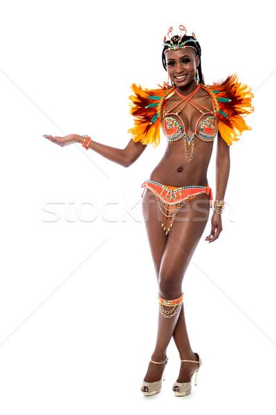 ストックフォト: 参加者 · 名前 · ここで · サンバ · ダンサー · 女性