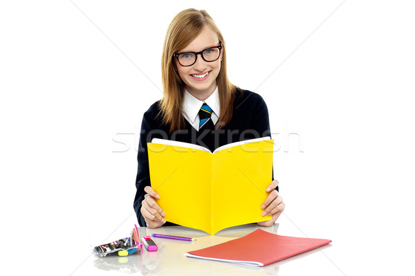 学生 着用 眼鏡 教育 教室 代 ストックフォト © stockyimages