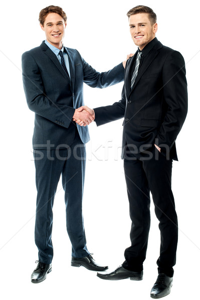Business colleagues are now partners Stock photo © stockyimages