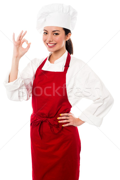Wow doskonały kucharz fantastyczny Zdjęcia stock © stockyimages