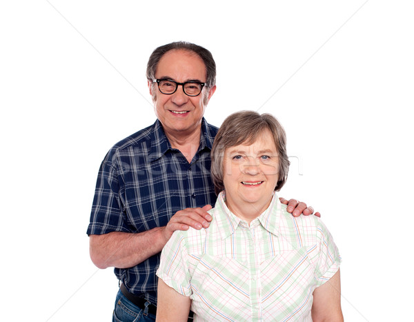 Happy senior lovable couple posing Stock photo © stockyimages