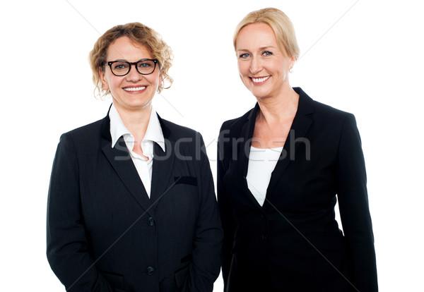 Senior onderneemsters permanente portret geslaagd witte Stockfoto © stockyimages