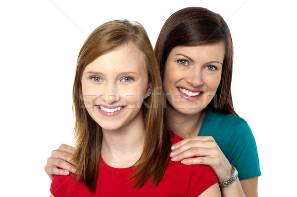 Fashionable trendy daughter and mom Stock photo © stockyimages