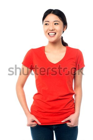 Young attractive model in casuals Stock photo © stockyimages