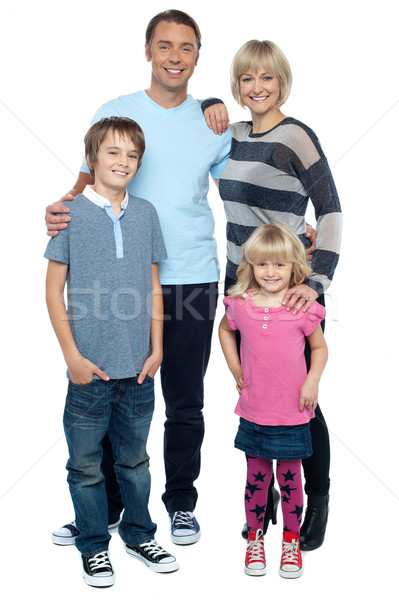 Happy family with cheerful children Stock photo © stockyimages
