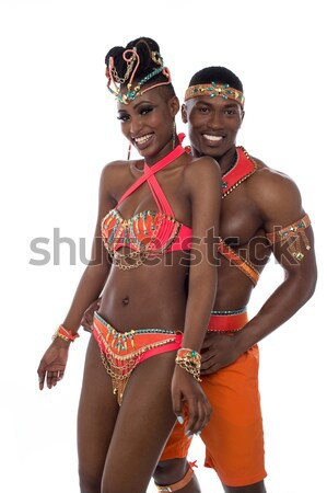 African carnival dancer posing Stock photo © stockyimages