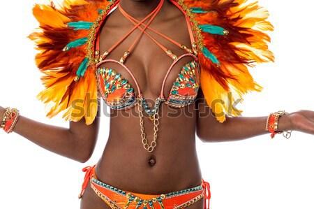 новых карнавальных костюм женщину танцовщицы Сток-фото © stockyimages