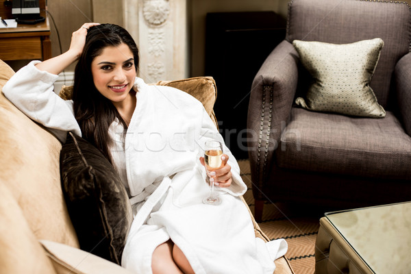 Cheers, Lets have a champagne ! Stock photo © stockyimages