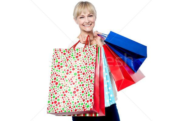 Zdjęcia stock: Kobieta · kolorowy · odizolowany · biały