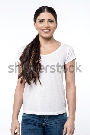 Attractive female dressed in casuals Stock photo © stockyimages