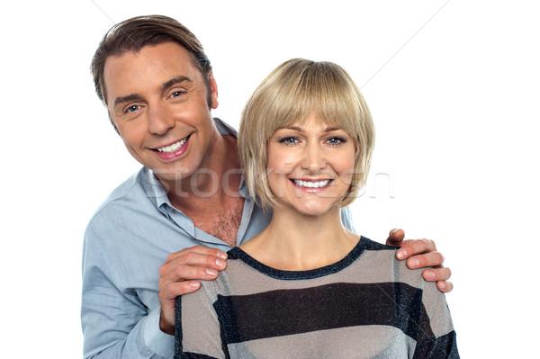 Portré férj feleség mosolyog szeretet pár Stock fotó © stockyimages
