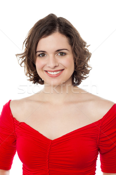 Closeup of a joyous fashionable young lady Stock photo © stockyimages