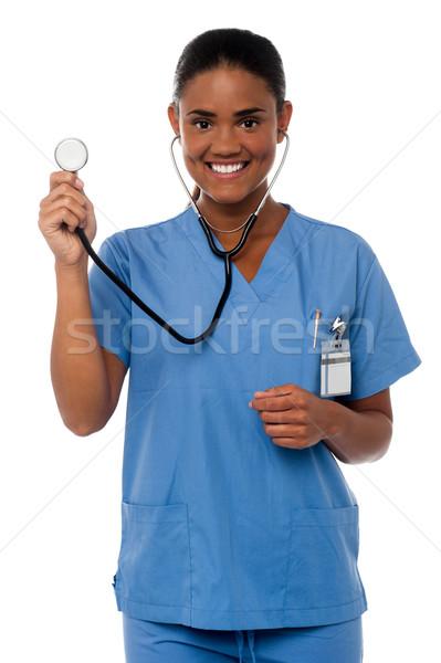 Hazır genç doktor kadın Stok fotoğraf © stockyimages