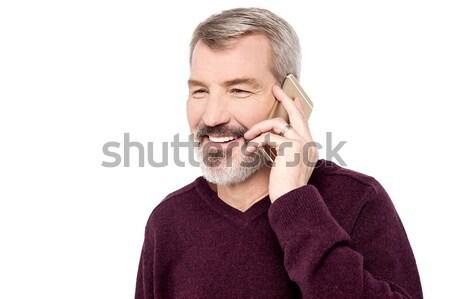 Hello örvend hall mosolyog idős férfi Stock fotó © stockyimages