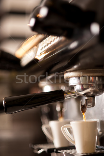 Chaud espresso café processus préparation Photo stock © stockyimages