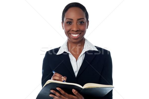 Dama lista secretario pluma fondo Foto stock © stockyimages