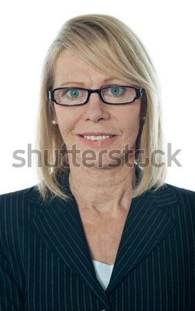 Portret w średnim wieku kobieta interesu szczęśliwy dojrzały Zdjęcia stock © stockyimages