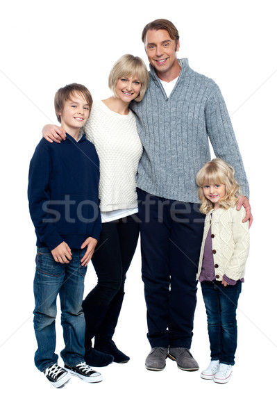 Affectionate family feeling the warmth of love Stock photo © stockyimages