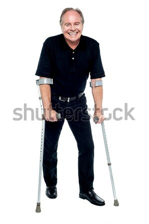 Elderly accident victim recovering quite remarkably Stock photo © stockyimages