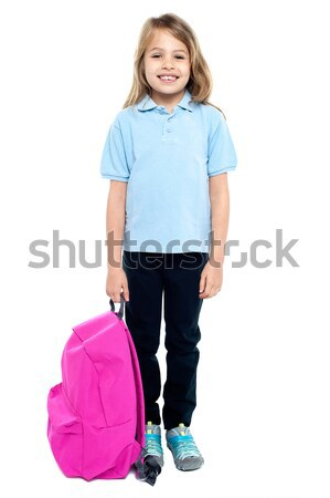 Smiling child ready to attend school Stock photo © stockyimages
