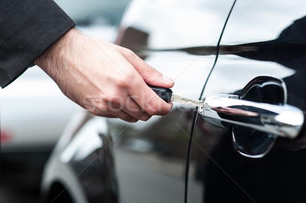 男 車のキー ドア ロック ロック解除 車 ストックフォト © stockyimages