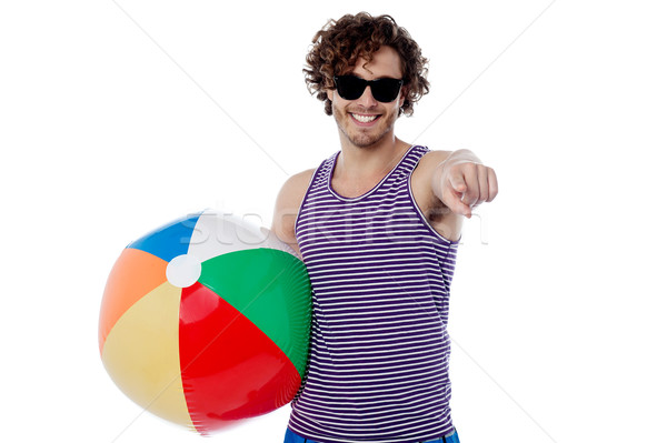 Are you ready for a beach ball game? Stock photo © stockyimages