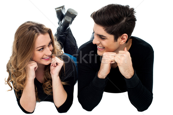 Young love couple lost in each other Stock photo © stockyimages