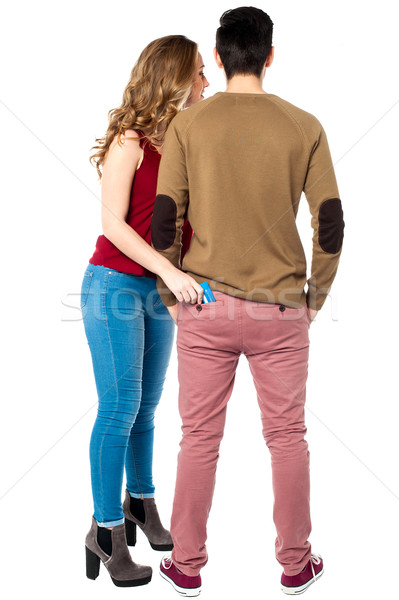 Its time to shop secretly! Stock photo © stockyimages