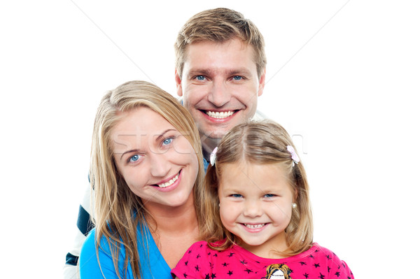 Snap shot of an adorable charming family Stock photo © stockyimages