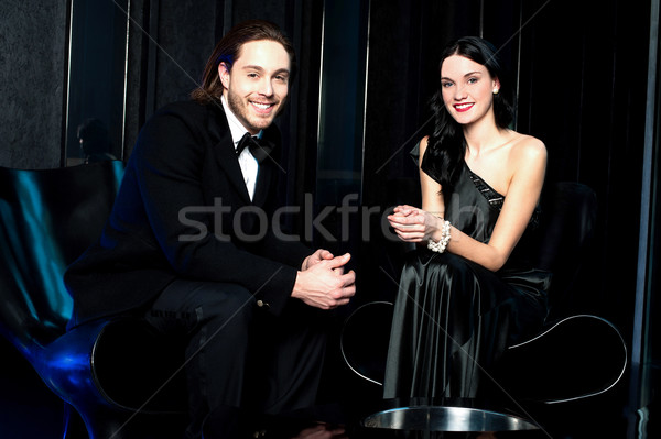 Glamorous portrait of attractive young couple Stock photo © stockyimages