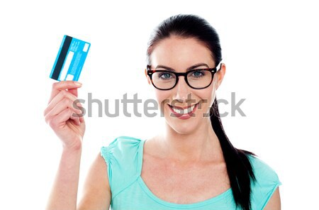 Beautiful american lady ready to shop Stock photo © stockyimages