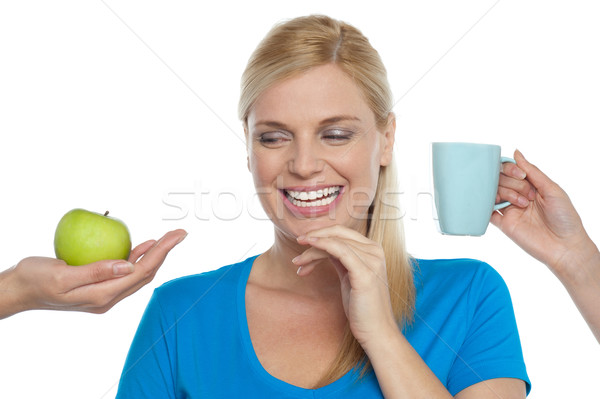 Apple or coffee? Stock photo © stockyimages