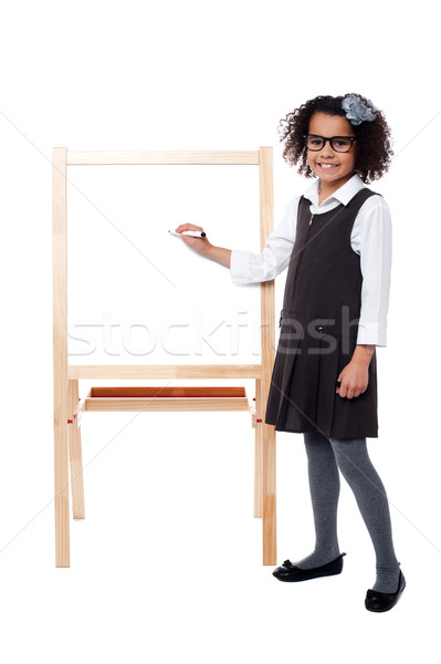 School girl educating her classmates Stock photo © stockyimages