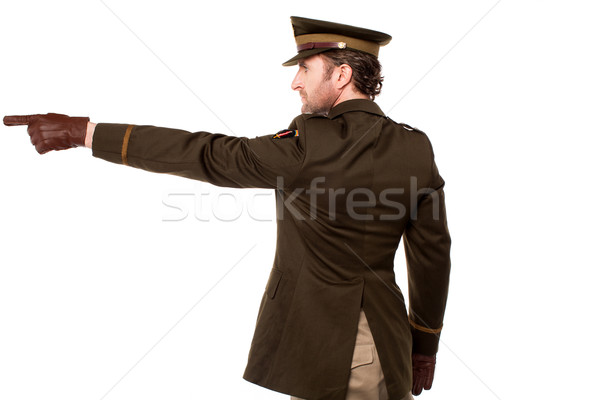 American soldier pointing at something Stock photo © stockyimages