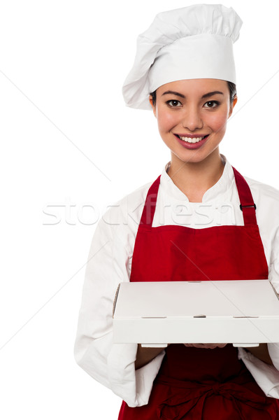 Stock photo: Here is your order sir.