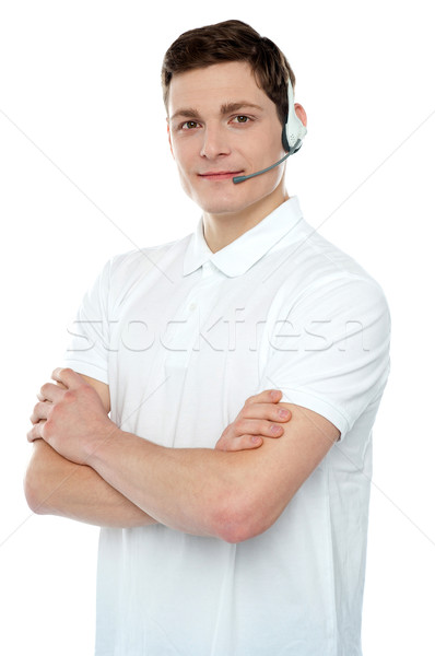 Graceful help desk male executive posing Stock photo © stockyimages