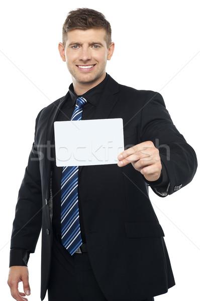 Business presenteren geïsoleerd witte Stockfoto © stockyimages