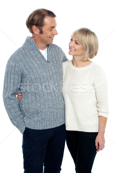 Admiring love couple lost in each other Stock photo © stockyimages