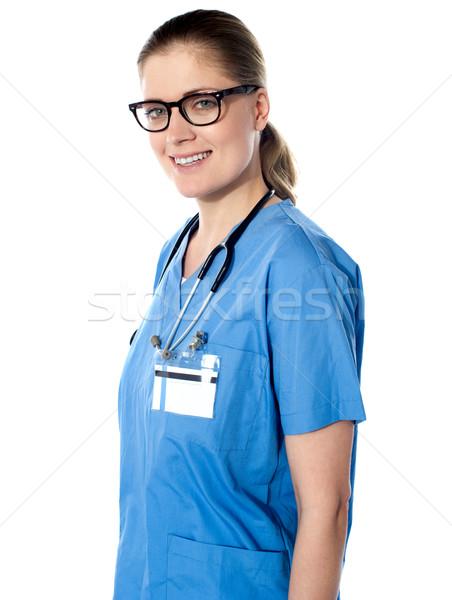 Obraz lekarz stetoskop około szyi kobieta Zdjęcia stock © stockyimages