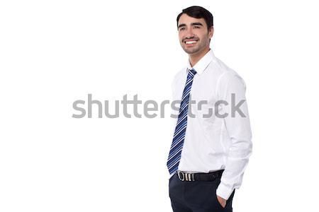 Brilhante idéia fortalecimento meu negócio corporativo Foto stock © stockyimages
