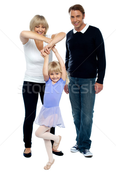 Pretty girl child dancing smartly Stock photo © stockyimages