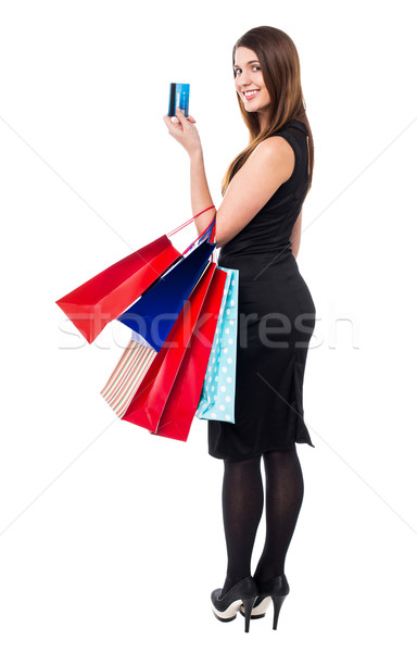Let's shop on discounted prices with credit card Stock photo © stockyimages