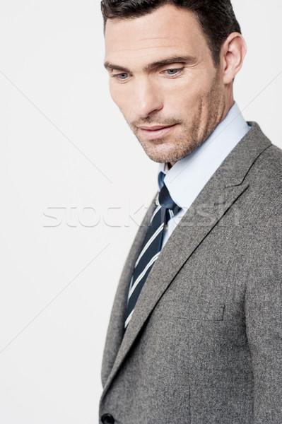 Görüntü işadamı orta yaşlı adam kurumsal kravat Stok fotoğraf © stockyimages