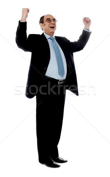 Experienced corporate man sharing success Stock photo © stockyimages