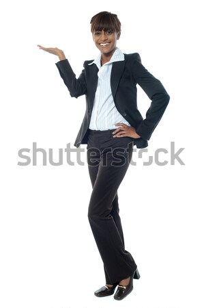 Female executive posing with copyspace Stock photo © stockyimages