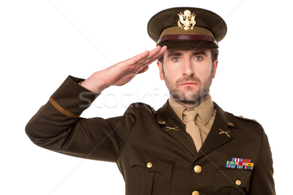 I salute my country ! Stock photo © stockyimages